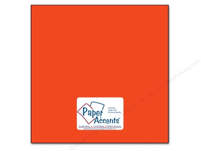 Cardstock 12 x 12 in. #91 Smooth Construction Orange by Paper Accents (25 sheets)