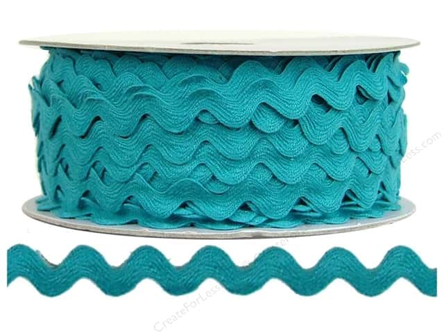 Cheep Trims Ric Rac 1/2 in. Turquoise