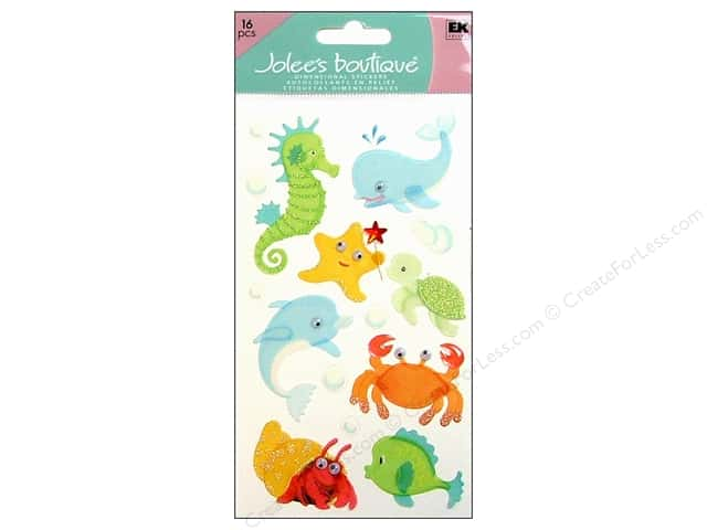 Jolee's Boutique Stickers Large Baby Sea Creatures