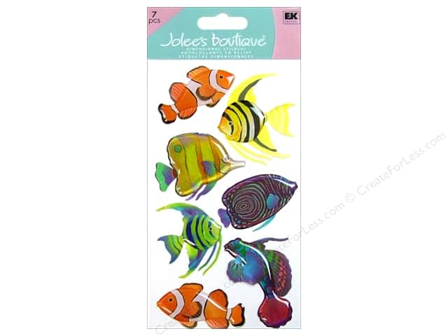 Jolee's Boutique Stickers Large Vellum Tropical Fish