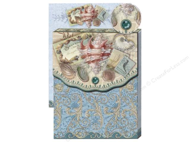 Punch Studio Pocket Note Pad Glitter Sea Treasure