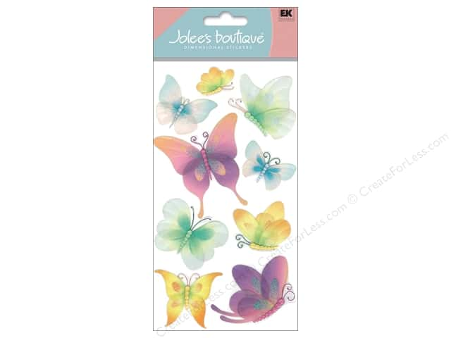 Jolee's Boutique Stickers Large Vellum Butterflies
