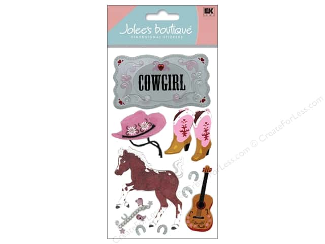 Jolee's Boutique Stickers Large Cowgirl