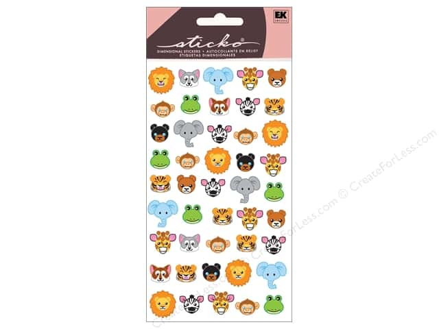 EK Sticko Stickers Zoo Faces