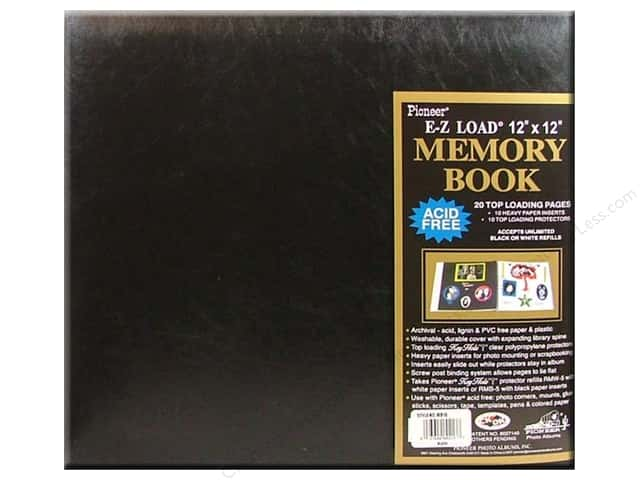 Pioneer Scrapbook Album 12 x 12 in. Leatherette Black