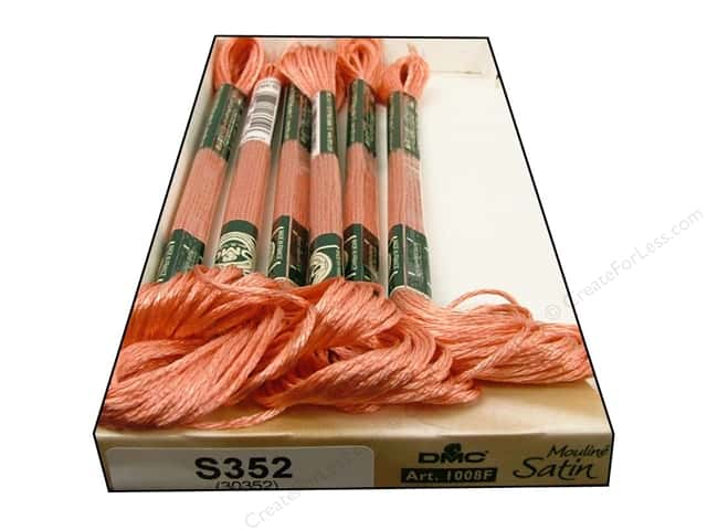 DMC Satin Embroidery Floss #S352 Delicate Salmon (6 skeins)