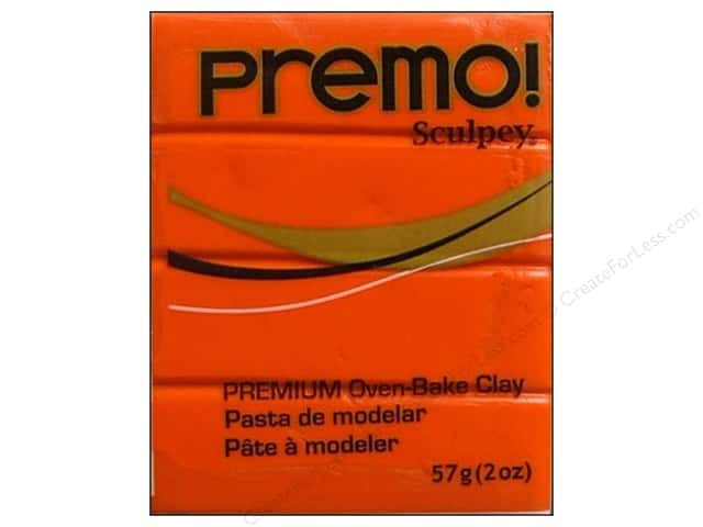 Premo! Sculpey Polymer Clay 2 oz. Orange