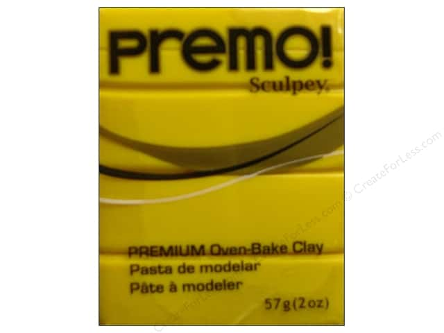 Premo! Sculpey Polymer Clay 2 oz. Cadmium Yellow Hue