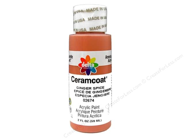 Ceramcoat Acrylic Paint by Delta 2 oz. #2674 Ginger Spice