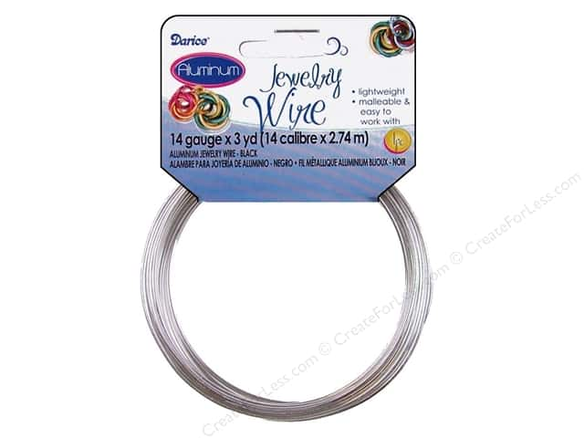 Darice Aluminum Jewelry Wire 14 Gauge Silver 3 yd.