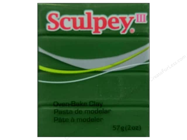 Sculpey III Clay 2 oz. Leaf Green