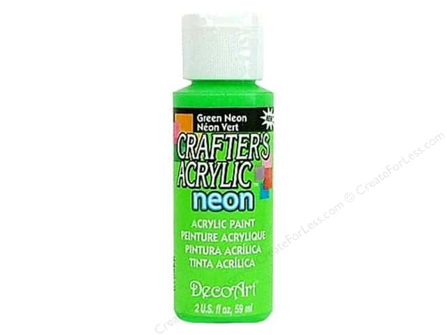 DecoArt Crafter's Acrylic Paint 2 oz. #132 Neon Green