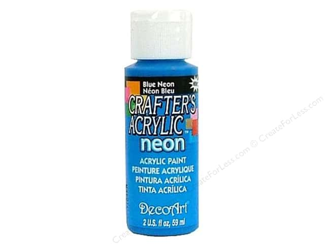 DecoArt Crafter's Acrylic Paint 2 oz. #133 Neon Blue
