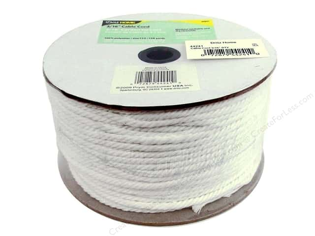 Cable Cord by Dritz Home White 3/16 in. x 108 yd. (108 yards)