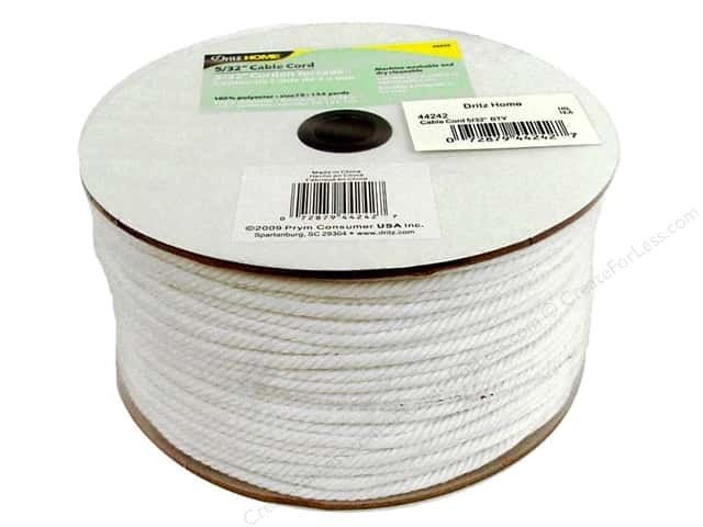 Cable Cord by Dritz Home White 5/32 in. x 144 yd. (144 yards)