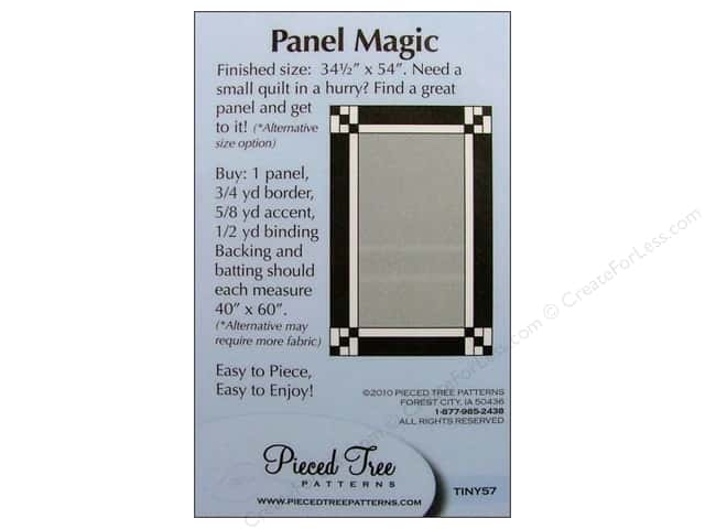 Pieced Tree Tiny Panel Magic Pattern Card