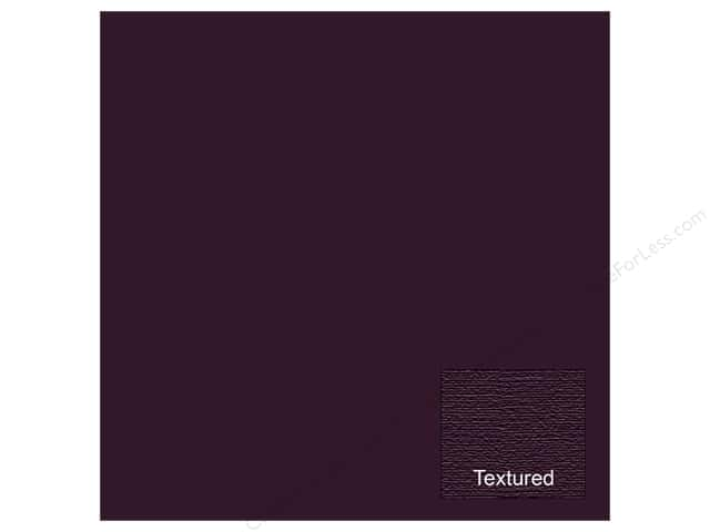 American Crafts 12 x 12 in. Cardstock Textured Eggplant (25 sheets)