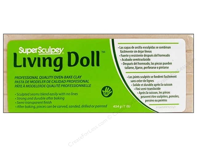 Super Sculpey Living Doll Clay 1 lb. Beige