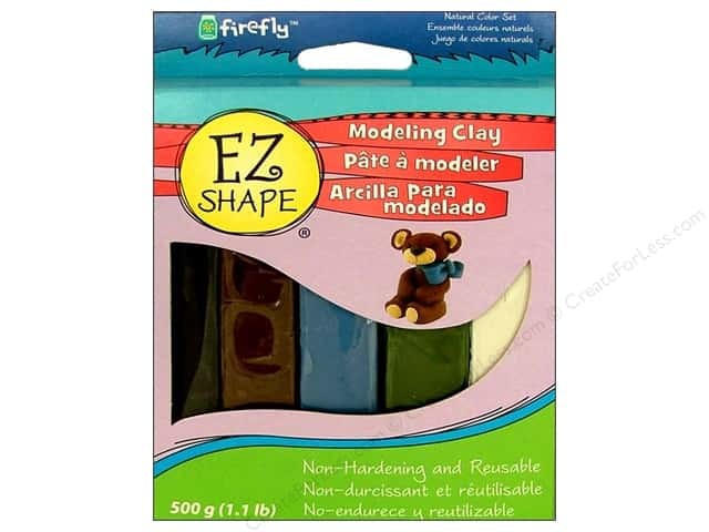 Polyform EZ Shape Non Dry Modeling Clay Set Natural