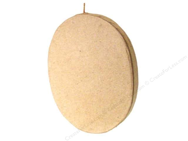 Paper Mache Flat Oval Ornament by Craft Pedlars