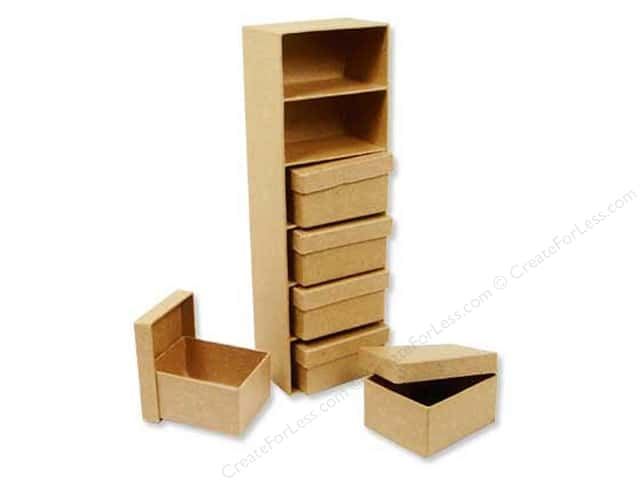 PA Paper Mache Mini Boxes with Frame (12 sets)