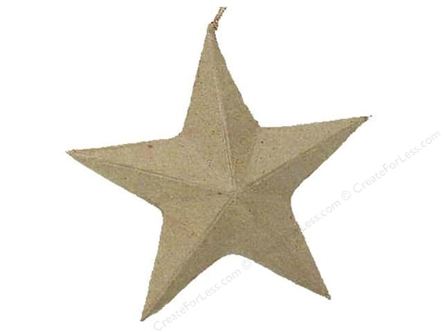 Paper Mache Star Ornament by Craft Pedlars (3 pieces)