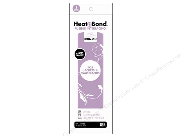 HeatnBond Fusible Interfacing 20 in. x 1 yd. Heavy Weight