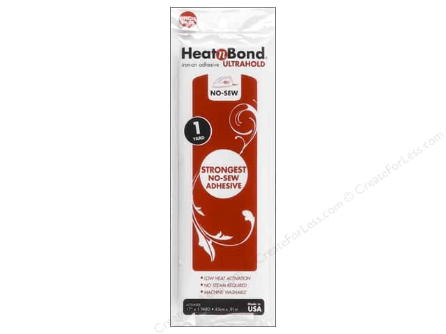 "Heat n Bond Ultra Hold Iron-on Adhesive 17""x 1yd"