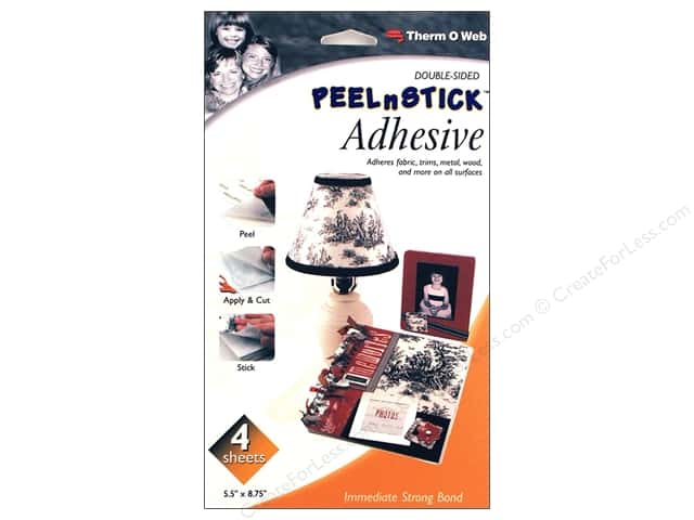 Therm O Web PeelnStick Adhesive Sheets 5 1/2 x 8 3/4 in. 4 pc.