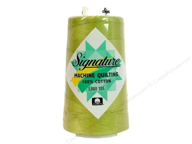 Signature 100% Cotton Thread 3000 yd. #F102 Pear Green