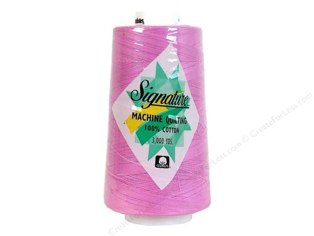 Signature 100% Cotton Thread 3000 yd. #F106 Pink Heart