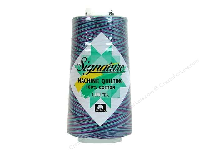 Signature 100% Cotton Thread 3000 yd. #F153 Variegated Garden