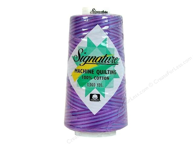 Signature 100% Cotton Thread 3000 yd. #F155 Variegated Pansy Patch