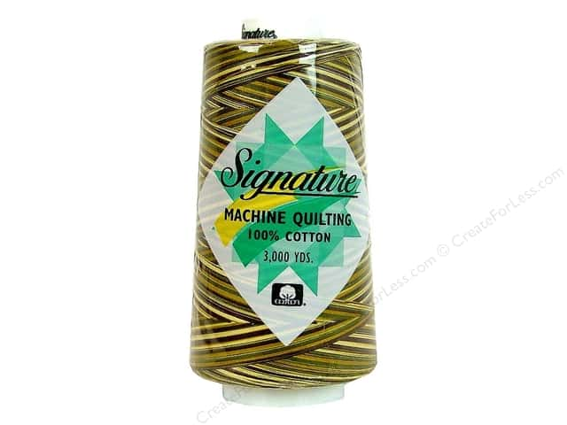 Signature 100% Cotton Thread 3000 yd. #F255 Variegated Corn Field