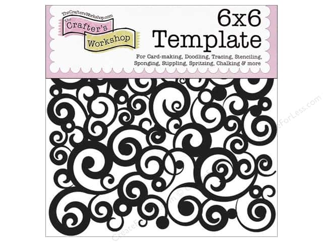 The Crafter's Workshop Template 6 x 6 in. Cosmic Swirl