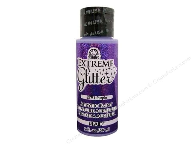 Plaid FolkArt Extreme Glitter Paint 2 oz. Purple