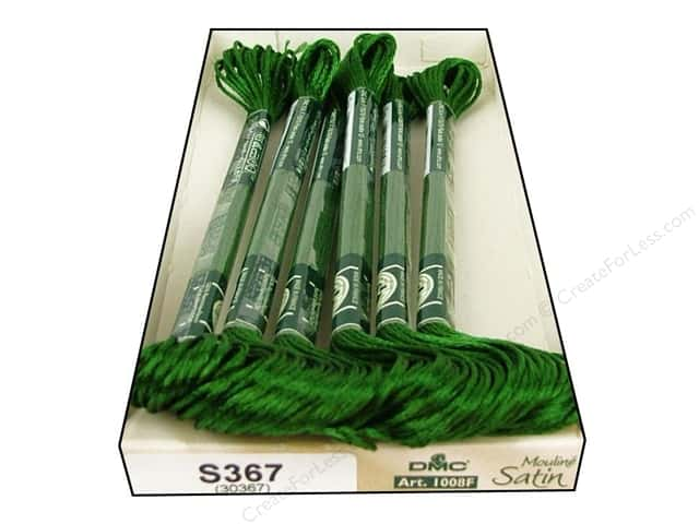 DMC Satin Embroidery Floss #S367 Bay Leaf (6 skeins)