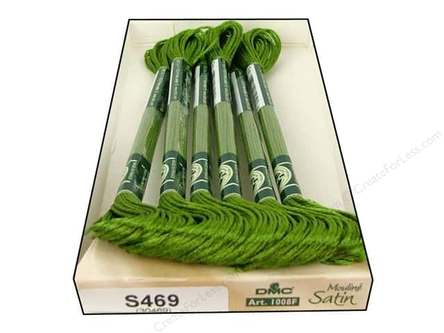 DMC Satin Embroidery Floss #S469 Olive Green