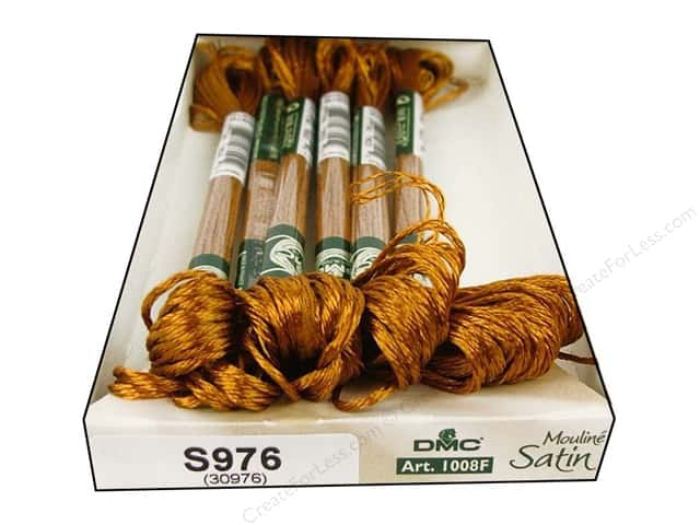 DMC Satin Embroidery Floss #S976 Golden Light Brown (6 skeins)