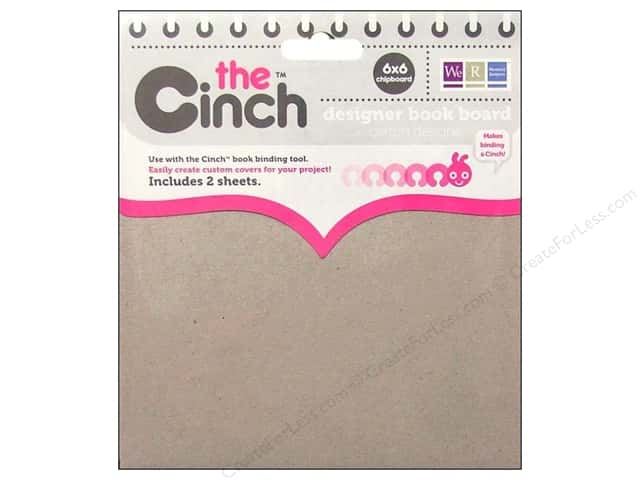 We R Memory Keepers The Cinch Book Board 6 x 6 in. Chipboard 2 pc.