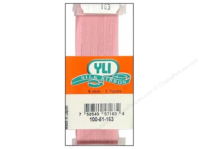 YLI 4 mm Silk Ribbon for Embroidery #163 Light Mauve 5 yd.