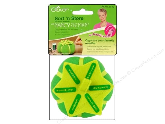 Clover Sort 'n Store Pin Cushion for Hand Sewing Needles with Nancy Zieman
