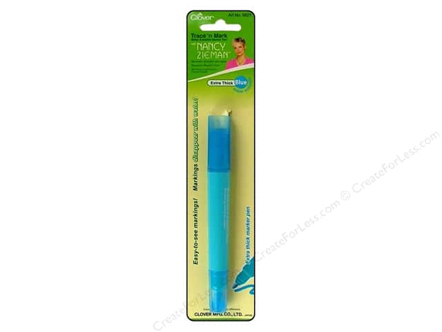 Clover Trace N Mark with Nancy Zieman Water Erasable Marking Pen - Extra Thick