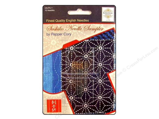 Colonial Needle Hand Needle Sashiko Sampler Assorted 10pc