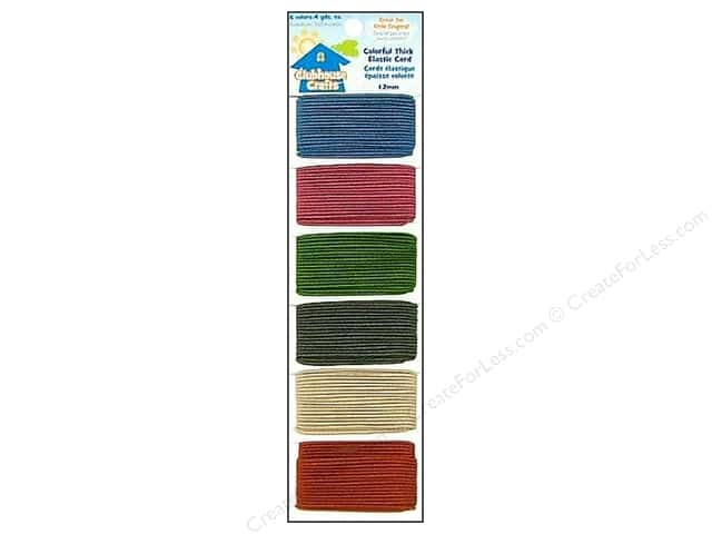 Sulyn Clubhouse Crafts Elastic Cord Thick Colorful