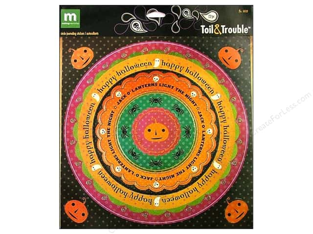 Making Memories Stickers Circle Journaling Toil & Trouble