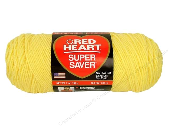 Red Heart Super Saver Yarn #0235 Lemon 364 yd.