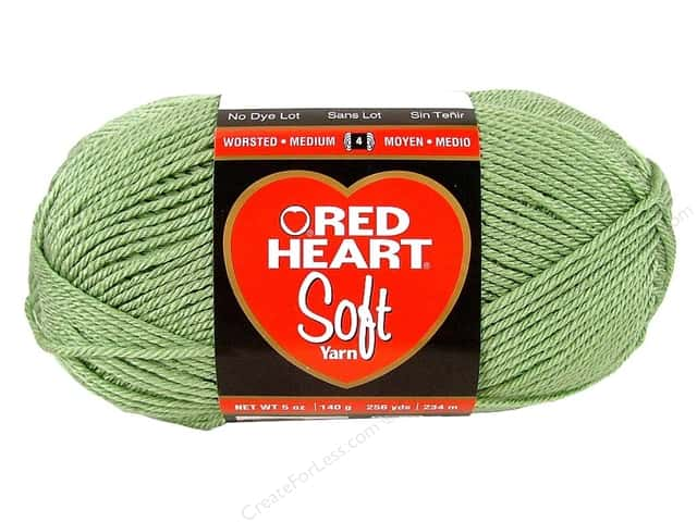 Red Heart Soft Yarn #9623 Spearmint 256 yd.