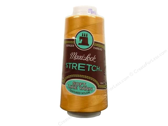 Maxi-Lock Stretch Thread 2000 yd. Gold