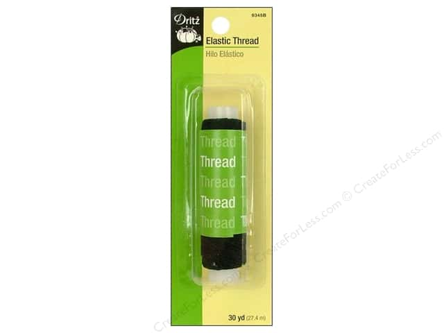 Elastic Thread by Dritz Black 30 yd